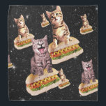 "hot dog cat invasion bandana<br><div class=""desc"">pussy , cat , meme , cats , galaxy , cute , kittens , pet , puppy , ""hot dog"" , universe , kitten , invasion , cosmic , ""cute cat"" , feline , lolcats , ""cat meme"" , lovable , ""lol cats"" , ""orange cat"" , ""space cat"" , ""cat...</div>"