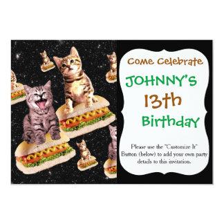 hot dog cat invasion card