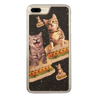 hot dog cat invasion carved iPhone 7 plus case