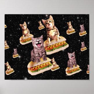 hot dog cat invasion poster