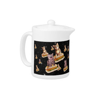 hot dog cat invasion teapot