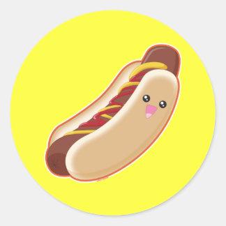 Hot Dog! Classic Round Sticker