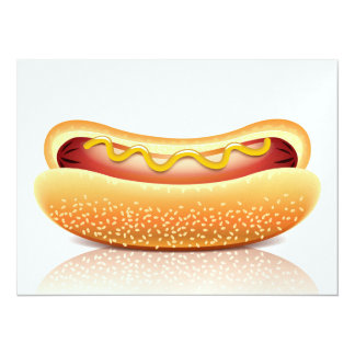 Hot Dog Cookout Party Invitation