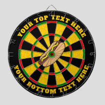 Hot Dog Dartboard with Custom Text