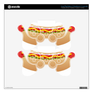 Hot Dog Decal For PS3 Controller