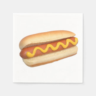 """Hot Dog"" design paper napkins"