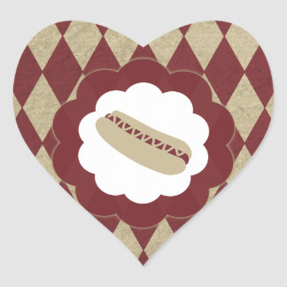 hot dog diamonds heart sticker