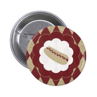 hot dog diamonds pinback button
