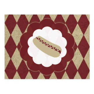 hot dog diamonds postcard