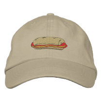 Hot Dog Embroidered Baseball Hat