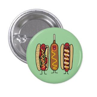 Hot Dog Friends 1 Inch Round Button