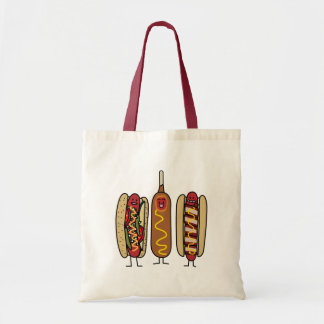 Hot Dog Friends Canvas Bags