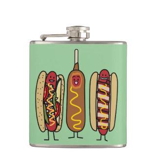 Hot Dog Friends Hip Flask