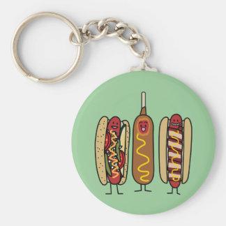 Hot Dog Friends Keychain