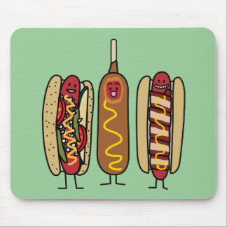 Hot Dog Friends Mouse Pad