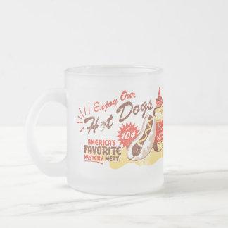 Hot Dog frosted mug