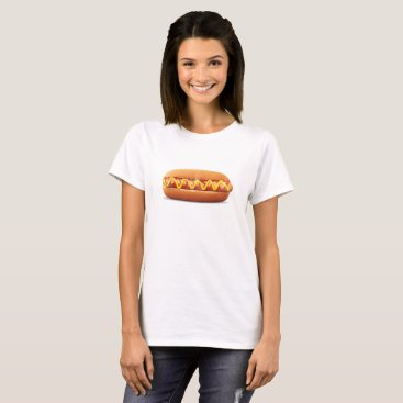 Halloween Themed hot dog Funny Halloween costume matching couples T-Shirt