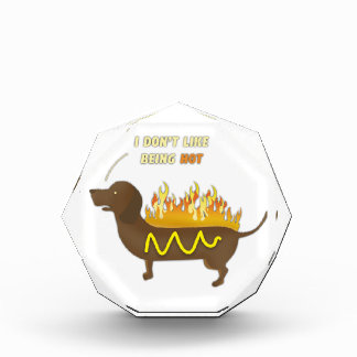 Hot Dog Funny Joke Slogan Acrylic Award