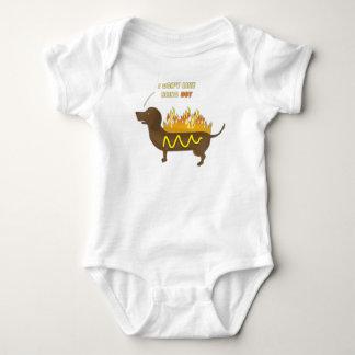 Hot Dog Funny Joke Slogan Baby Bodysuit