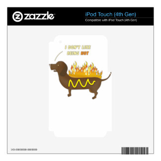 Hot Dog Funny Joke Slogan iPod Touch 4G Decal