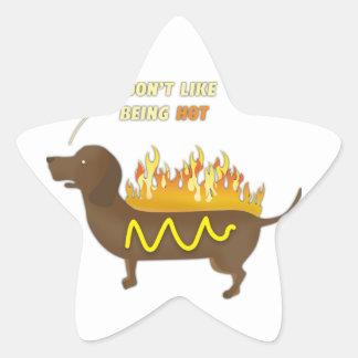 Hot Dog Funny Joke Slogan Star Sticker