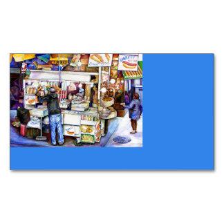 Hot Dog God, New York City Business Card Magnet
