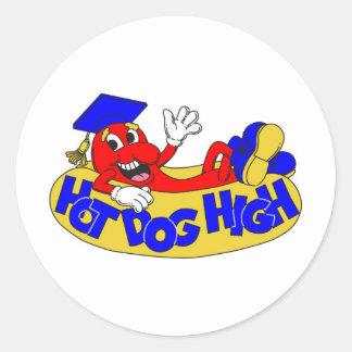 Hot Dog High Classic Round Sticker