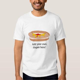 Hot Dog in Bun: Customizable Slogan Shirt