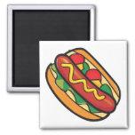 hot dog in bun fridge magnets