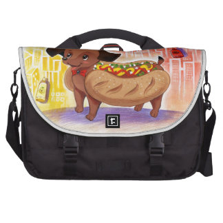 Hot Dog In The City Kitschy Cute Laptop Commuter Bag