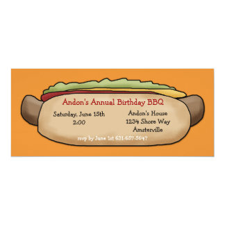 Hot Dog Invitation