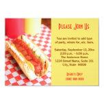 "Hot Dog Invitations 4.5"" X 6.25"" Invitation Card"