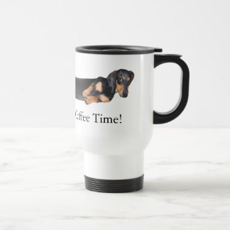 Hot Dog! It's Coffee Time 15 Oz Stainless Steel Travel Mug