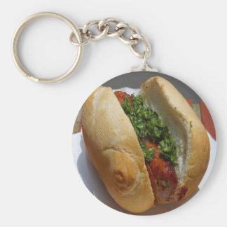 Hot Dog Keychain