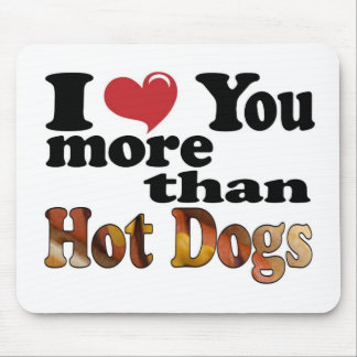 Hot Dog Love Mouse Pads