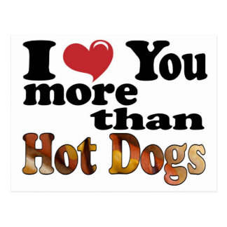 Hot Dog Love Postcard