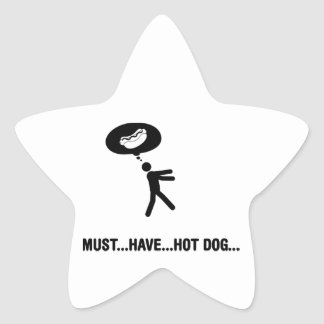 Hot Dog Lover Star Sticker