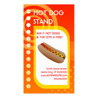 hot dog loyalty sunrise Double-Sided standard business cards (Pack of 100)