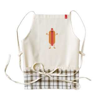 Hot Dog man Zazzle HEART Apron