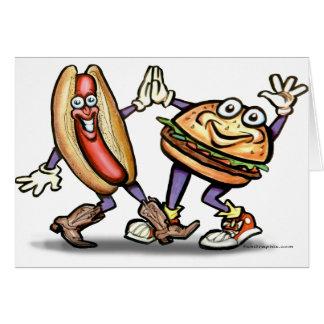 Hot Dog n Hamburger Card