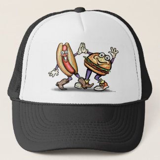 Hot Dog n Hamburger Trucker Hat