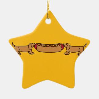 Hot Dog-O-War Christmas Ornament