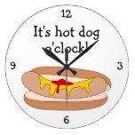 Hot Dog O'Clock fun food graphic