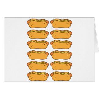 Hot dog on a bun card