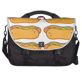 Hot dog on a bun computer bag