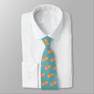 Hot Dog on Your Chosen Color - Novelty Food Theme Neck Tie