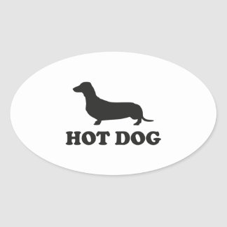 HOT DOG OVAL STICKER