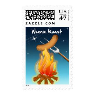Hot Dog Over Campfire Weenie Roast Postage
