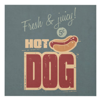 Hot Dog Panel Wall Art