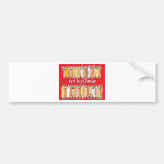 Hot Dog Parade with red background Bumper Sticker